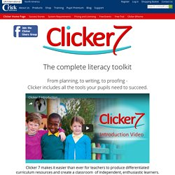 Clicker 7 educational software, literacy software for children of all abilities.