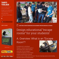 "Design educational ""escape rooms"" for your students!"