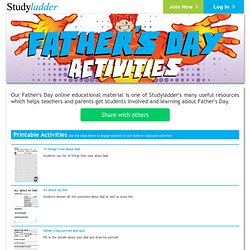 Father's Day online educational material - Studyladder