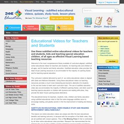 Online Educational Videos: Video for Teachers, kids,children,students