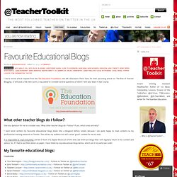 Favourite Educational Blogs