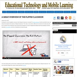 Educational Technology and Mobile Learning: A Great Overview of The Flipped Classroom