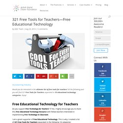 321 Free Tools for Teachers—Free Educational Technology