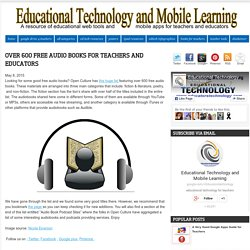 Over 600 Free Audio Books for Teachers and Educators