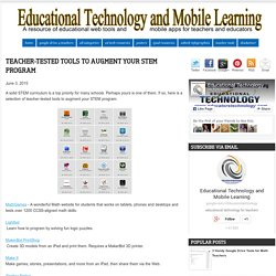 Teacher-tested Tools to Augment Your STEM Program