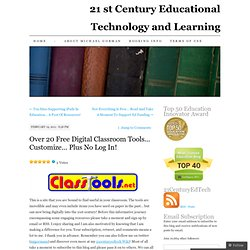 21 st Century Educational Technology and Learning