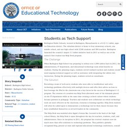 Students as Tech Support