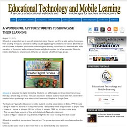 A Wonderful App for Students to Showcase Their Learning
