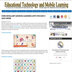 Some Excellent Android Learning Apps for Kids 5 and Under