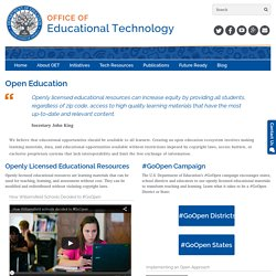 Open Education - Office of Educational Technology