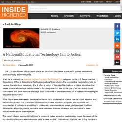 A National Educational Technology Call to Action
