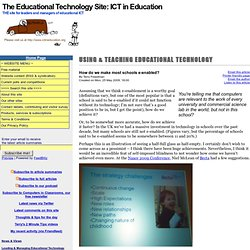 The Educational Technology Site: ICT in Education: --> How do we make most schools e-enabled?