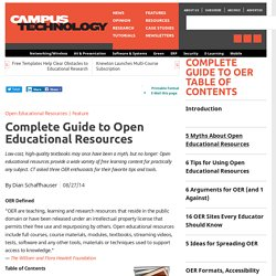 Complete Guide to Open Educational Resources