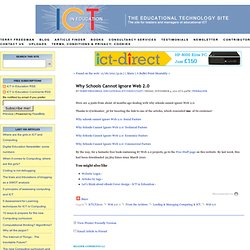 Why Schools Cannot Ignore Web 2.0