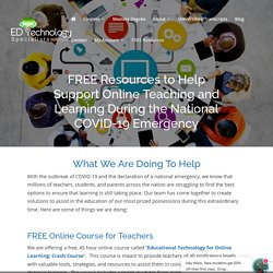 Free Educational Technology Resources for Teachers and Online Learning