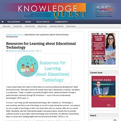 Resources for Learning about Educational Technology
