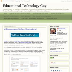 Wolfram announces Wolfram Education Portal