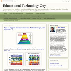 Apps to Support Bloom's Taxonomy - Android, Google, iPad and Web 2.0
