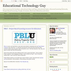 PBLU - Project Based Learning resource for Educators