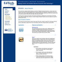 Educational and Assistive Technology Consulting Services — EdTech Associates