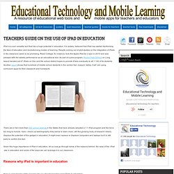 Teachers Guides on The Use of iPad in education