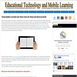 Teachers Guide on The Use of iPad in education