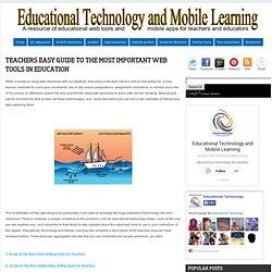 Teachers Easy Guide to The Most Important Web Tools in Education