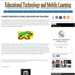 8 Great Free Educational Resources for Teachers