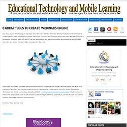 8 Great Tools to Create Webinars Online