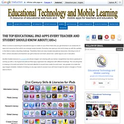 The Top Educational iPad Apps Every Teacher and Student should Know about ( 100+)