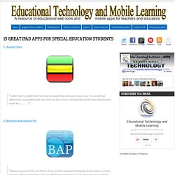 15 Great iPad Apps for Special Education Students