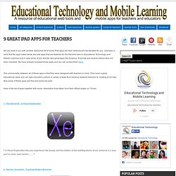 9 Great iPad Apps for Teachers