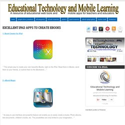 Excellent iPad Apps to Create eBooks