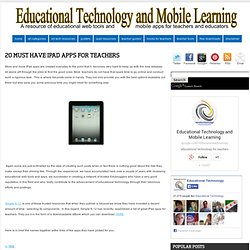 20 Must Have iPad Apps for Teachers