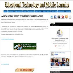 A New List of Great Web Tools for Educators