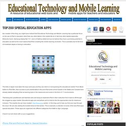 Educational Technology and Mobile Learning: Top 200 Special Education Apps