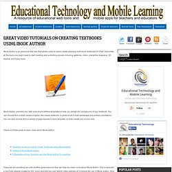 Great Video Tutorials on Creating Textbooks Using iBook Author
