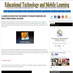 A Simple Guide for Teachers to Create eBooks on iPad using iBook Author