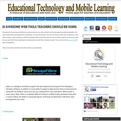 10 Awesome Web Tools Teachers should Be Using