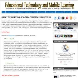 Great Tips and Tools to Create Digital e-Portfolio