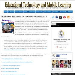 Must Have Resources on Teaching Online Safety