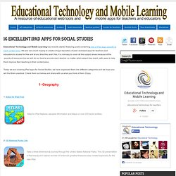 16 Excellent iPad Apps for Social Studies