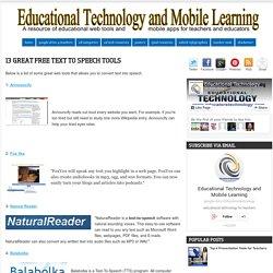 13 Texto Great gratis para Herramientas de voz ~ Tecnología Educativa y Aprendizaje Móvil