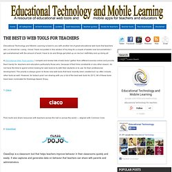 The Best 13 Web Tools for Teachers