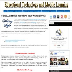 8 Excellent Rules to Improve your Writing Style ~ Educational Technology and Mobile Learning