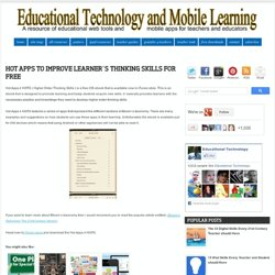 Hot Apps to Improve Learner`s Thinking Skills for Free