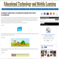 10 Great Web Tools to Create e-Books for your Classroom
