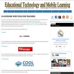 10 потрясающие инструменты Web для учителей ~ Образовательные технологии и Дистанционное обучение