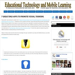 Educational Technology and Mobile Learning: 7 Great iPad Apps to Promote Visual Thinking
