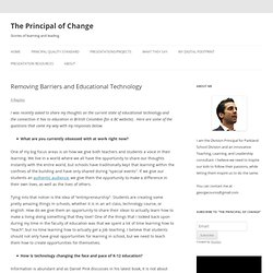 Removing Barriers and Educational Technology